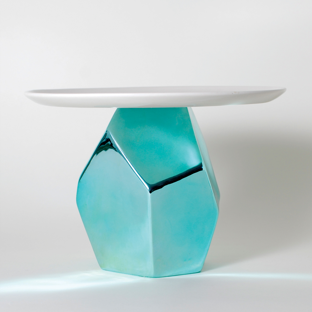 Candy Rock Blue Crystal Cake Plate & imm Living | Table Top | Tabletop Accessories | Cake Plate | Candy ...