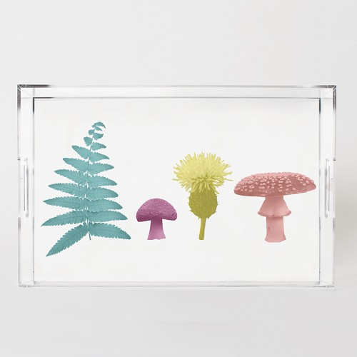 Woodland Wonder Nature Scene Acrylic Tray