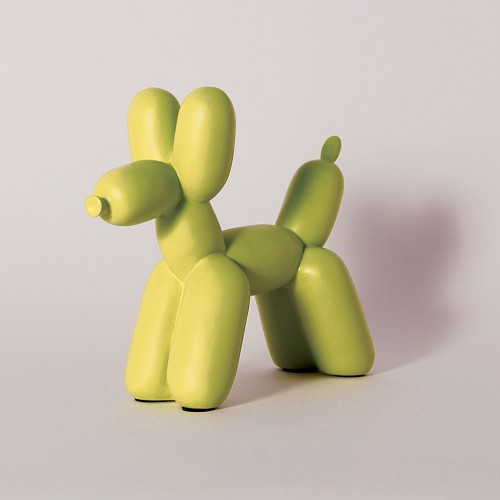 Big Top Balloon Dog Bookend - Chartreuse