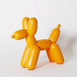 Big Top Ceramic Balloon Dog Bookend - Orange