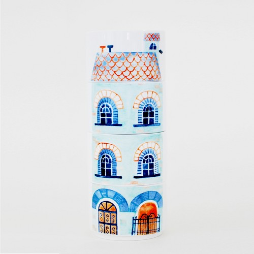 Rowhouse Victorian Stacking Mugs