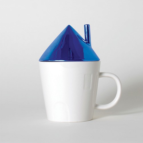 Rise & Shine Cobalt Roof House Mug