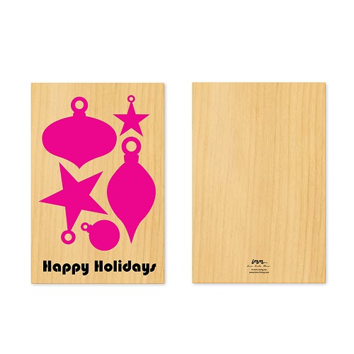 Woodwork Holidays Ornament Pop-Out Card