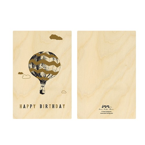 Woodwork Birthday Hot Air Balloon Card