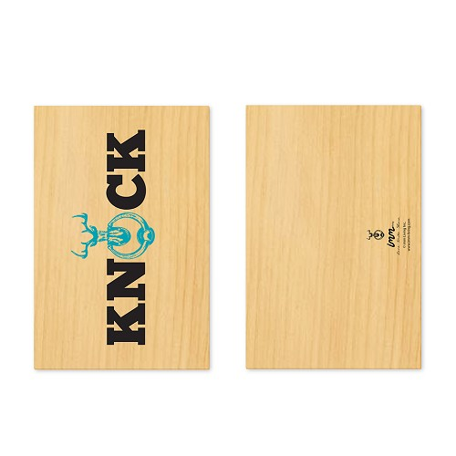 Woodwork Knock on Wood Card